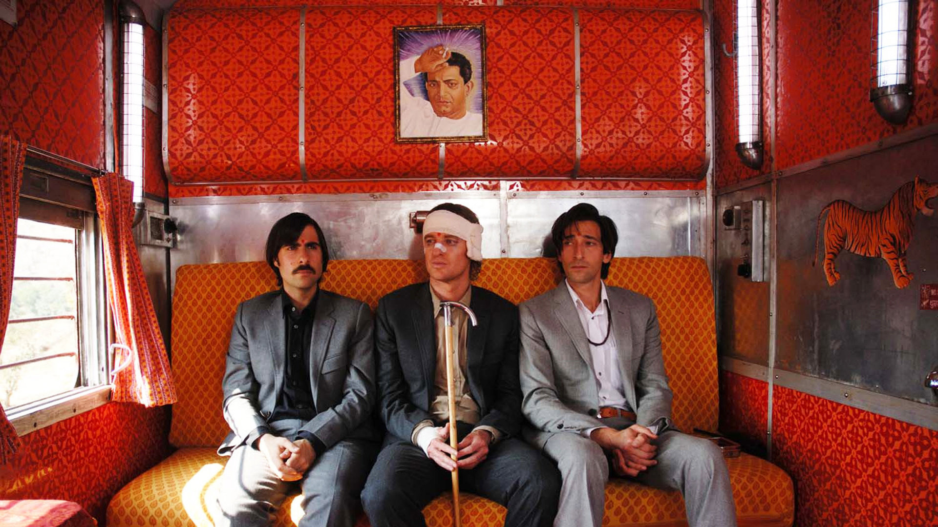 Seth's plush train interior for The Darjeeling Limited